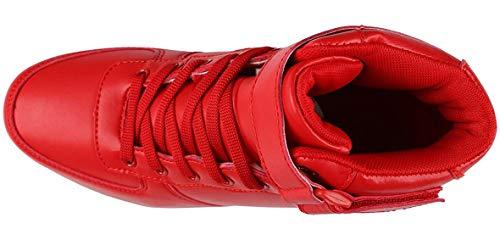 USB Adulto scarpe Top scarpe Sneakers Rosso Alta Luminosi Unisex Sportivet lampeggiante Scarpe per Bambino Led bambini ricarica moda ZdqtwZE