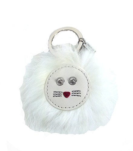 Coach Furry Lion Keychain / FOB F62983, White