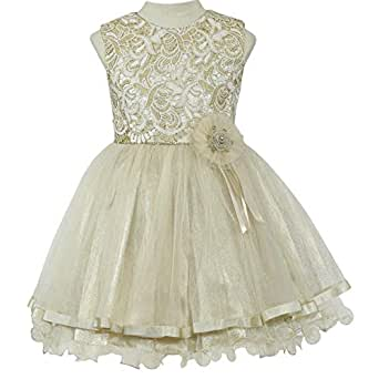 Pamina Gown For Girls - 6-7 Years, Gold