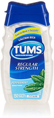 Tums Antacid Regular Strength 500, Peppermint, 150 Chewable Tablets by TUMS by Tums