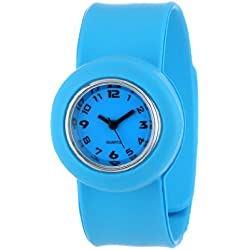 "Slide Kids' SL1P-JRLU ""Slap Junior"" Light Blue Silicone Watch with Interchangeable Dials"