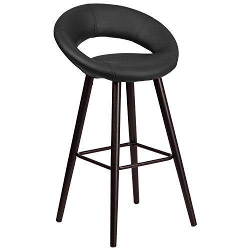 flash-furniture-ch-152550-bk-vy-gg-kelsey-series-high-contemporary-black-vinyl-barstool-with-cappucc