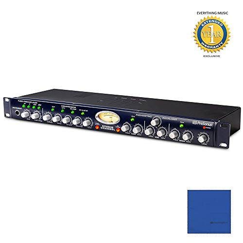 PreSonus Studio Channel Vacuum-Tube Channel Strip with Microfiber and 1 Year Everything Music Extended Warranty