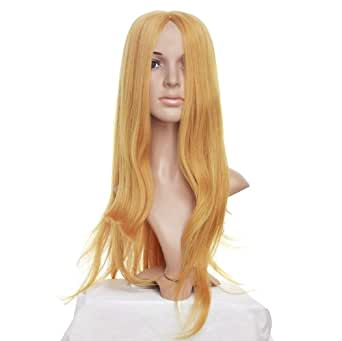 Strawberry Blonde Straight Long Length Anime Cosplay Costume Wig