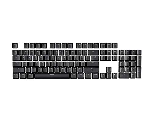 Monoprice Double Shot Keycaps - 104-Key Set - Black, Compatible with Workstream Mechanical Keyboards