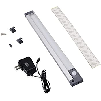 Nome Motion Sensor Light Plug in Angle Adjustable Aluminium Detector Lights Low Voltage Adapter