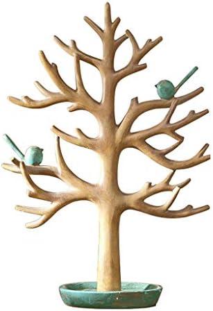 GWM ジュエリーオーガナイザー鳥ツリージュエリースタンド、ジュエリーラック、リングネックレスキーポーチ収納ラック、クリエイティブホームデコレーション (Size : #B 11×15inch)