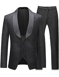 d77287541ef2 Mens 3 Pieces Tuxedos Vintage Groomsmen Wedding Suit Complete Outfits( Jackets+Vest+Trousers