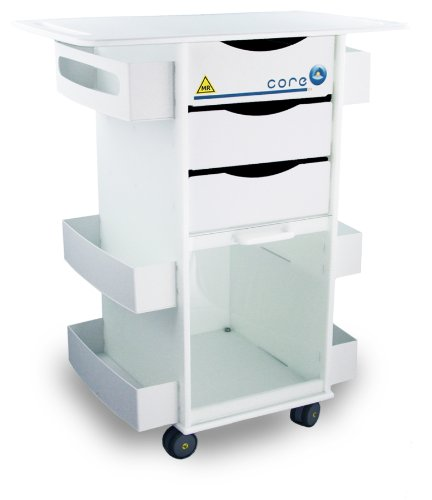 TrippNT 51817 Polyethylene MRI Core DX Storage Lab Cart with 29