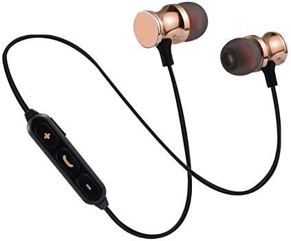 Auriculares Bluetooth de Metal para Samsung Galaxy A80 Smartphone inalámbricos con Mando a Distancia, Sonido Manos Libres intrauriculares universales (Dorado): Amazon.es: Electrónica