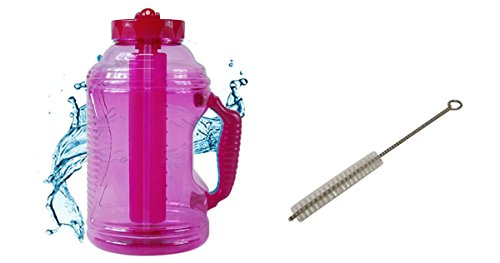 Cool Gear EZ Freeze 75 Ounce Water Bottle with Free Brain Power Techniques Ebook (Pink)