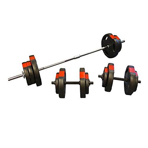 Juego de mancuernas 60 kg, pesas de triple agarre para entrenamiento, collarines Spinlock: Amazon.es: Deportes y aire libre