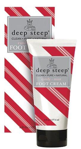 Deep Steep Foot Cream, Candy/Mint, 6 oz (2 (Deep Steep Candy)