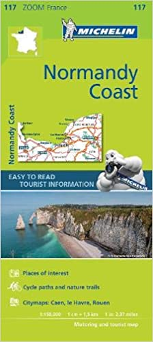 Normandy Coast - Zoom Map 117 (Michelin Zoom Maps): Amazon ...