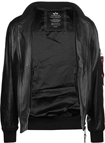 Leather Ma Alpha Industries Lw black D Tec 1 Black Blouson wS5A6Xq