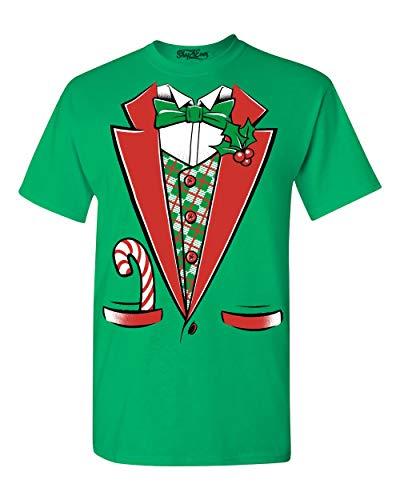 Tuxedo Christmas Costume T-shirt #12258 Funny Xmas Shirts 2XL Irish Green for $<!--$15.99-->