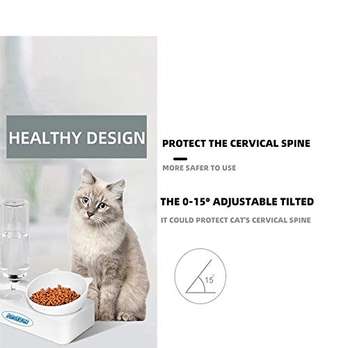 Aqueous Plastic Cat Bowls Dogs Bowls Cat Food Bowls Cat Food Dispenser Cat Water Bowl Cat Feeder Perfect Automatic Water Bowl for Cats and Small Dogs Tilted Water Cat Food Bowl Cat Water Bowl