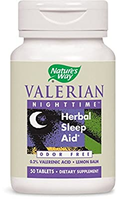 Nature's Way Valerian Nighttime Tablets, 50-Count
