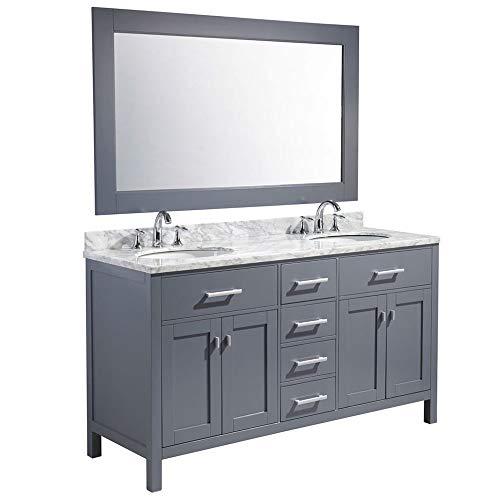 Bathroom Vanity Cabinet Marble - Luca Kitchen & Bath LC61CGW Geneva 61