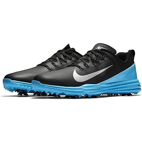 (Nike Lunar Command 2 Golf Shoes 2017 Black/Metallic Silver/Blue Fury Medium 9.5 )