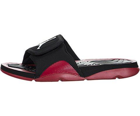Nike Jordan Men's Jordan Hydro 4 Black/White/Gym Red Sandal 8 Men US
