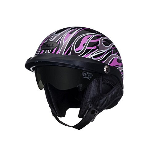 Bell Pit Boss Open Face Motorcycle Helmet (Flames Pink, X-Small/Small) (Non-Current Graphic)