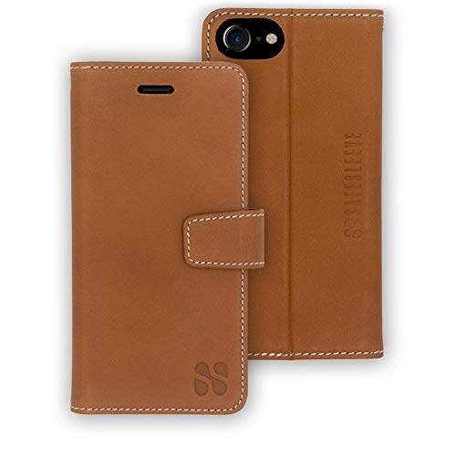 Anti Radiation RFID iPhone Case: iPhone 8, iPhone 7 and iPhone 6 ELF & RF Blocking Identity Theft Protection Wallet (Leather)