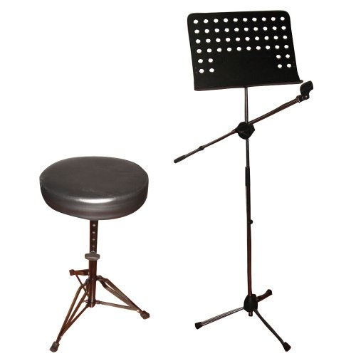 Pyle Mic, Music Sheet Stand and Stool Package - PMSM9 Hea...