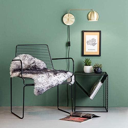 Koffietafel, bijzettafel, Iron Art bijzettafel, multifunctioneel bewaarvak, magazijnrek voor thuis, zwart metalen frame, 40 x 35 x 45 cm