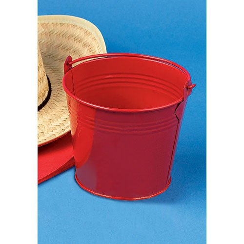 Red Tin Pail Package of 12 (Red Tin Pails)