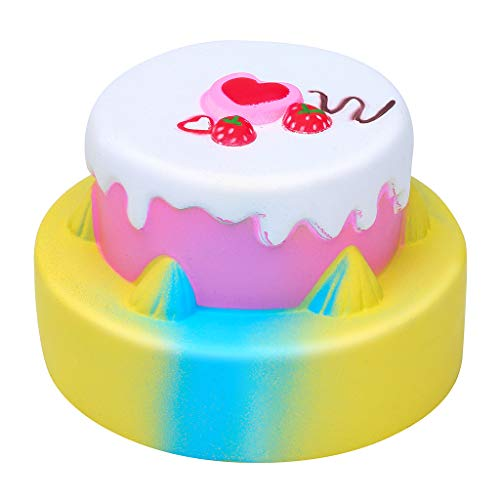 Squishies Galaxy Birthday Cake Fruit Scented Slow Rising Squeeze Stress Relief]()