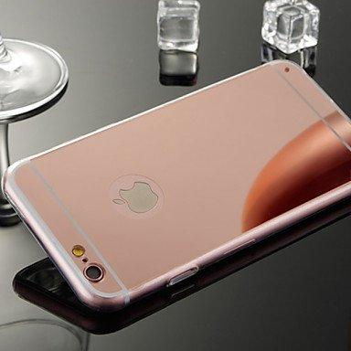 Fundas y estuches para teléfonos móviles, Soporte del espejo TPU caja del teléfono celular de material para el iphone 6plus / 6s más (colores surtidos) ( Color : Oro Rosa , Modelos Compatibles : IPhon Negro