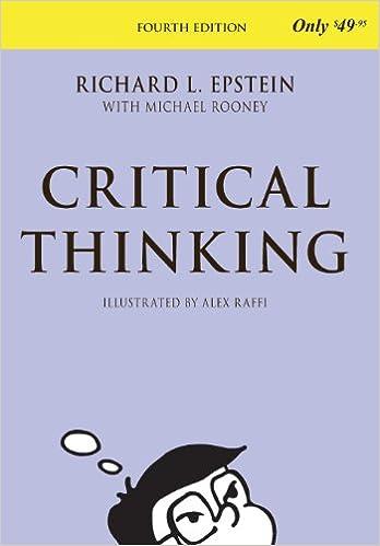 4th Edition Critical Thinking
