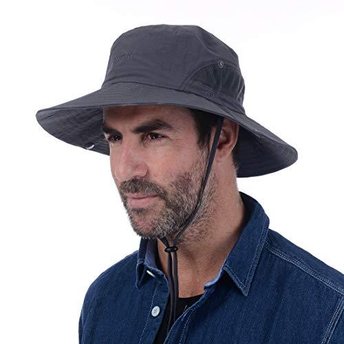 69f6080e USHAKE Fishing Hat, Bucket Hat, UPF 50+ Sun Protection Hat Boonie Hat Cap  for Outdoor Fishing Hunting Gardening Hiking