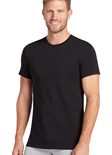 Jockey Men's T-Shirts Slim Fit Cotton Stretch Crew Neck - 2 Pack, Black, M