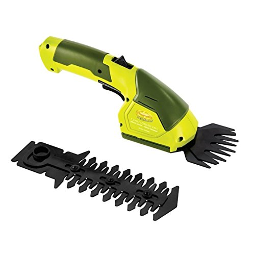 Green Cordless 2-in-1 Garden Hedge Grass Trimmer + Grass Shear by Sun Joe
