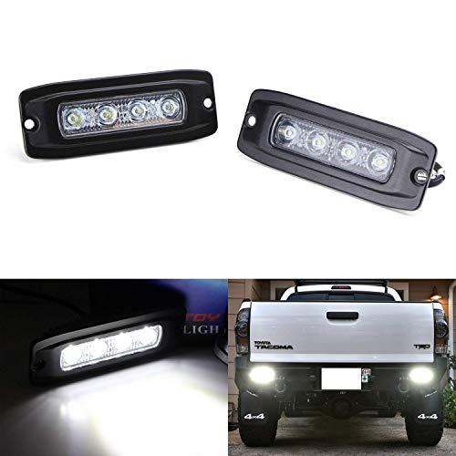 - iJDMTOY Spot Beam 20W LED Backup Driving Pod Lamps For Truck Jeep Off-Road ATV 4WD 4x4, (2) Flush Mount Pods Powered by (4) 5W Xenon White CREE LED Lights