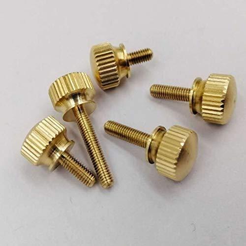 10PCS M3 M4 M5 M6 Hand Tighten Brass Knurled Screws Copper Twist Knurled Bolts Computer Chass Bolt Thumb Screw 16mm M3