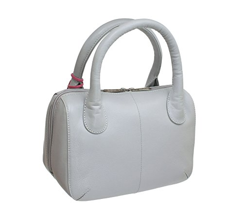 Bag Grey Red 774 75 Collection ANISHKA Mala Grab Leather Light Leather XO6vaaqw