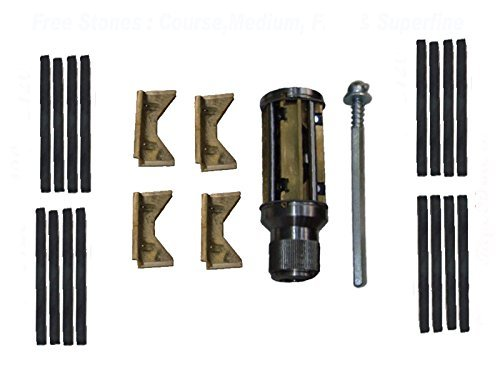 Safedeals365 Atl05001 Cylinder Engine Hone Kit - 34 to 60 Mm Honing Machine + Honing Stones, Coarse 120, Medium 180, Fine 320+220