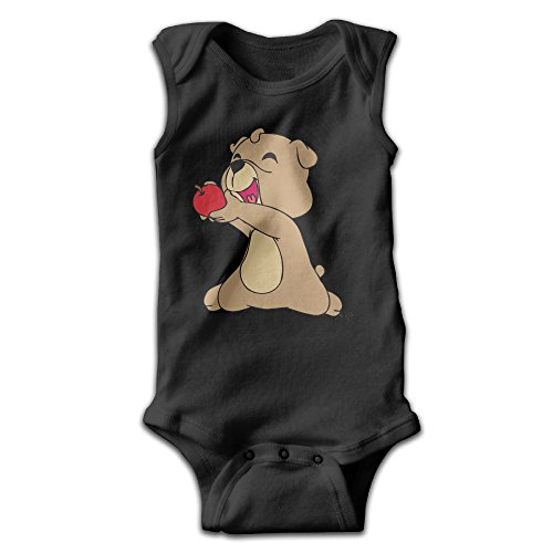 [Anne Infants Boy's & Girl's The Bear Short Sleeve Romper Bodysuit Outfits For 0-24 Months Black 6 M] (Toddler Conductor Outfit)