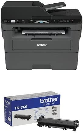 Brother Compact Monochrome Laser All-in-One Multi-Function Printer, MFCL2710DW with Standard Yield Black Toner