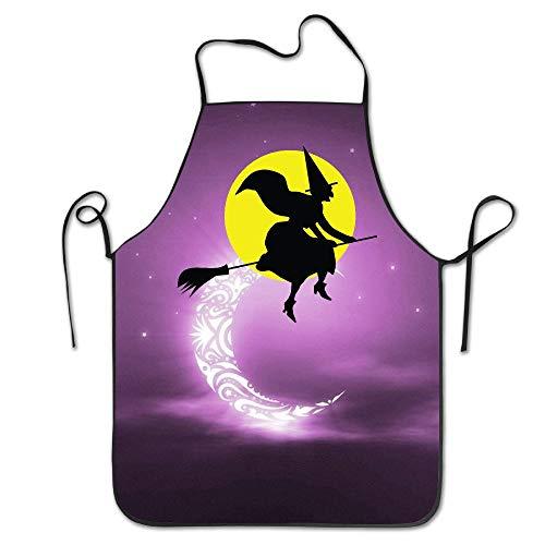 switchwak Halloween Witch Kitchen Apron Convenient
