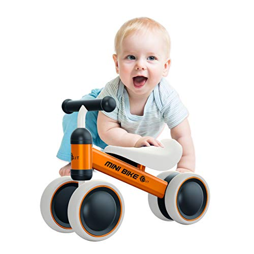 YGJT Baby Balance Bikes Bicycle Baby Walker Toys Rides for 1 Year Boys Girls 10 Months-24 Months Baby's First Bike First Birthday Gift Orange (Best Ride On Toys For 1 Year Old)