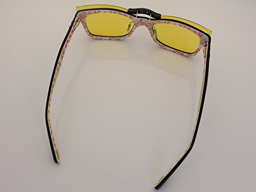 ad60966d74 Custom Fit Polarized CLIP-ON Sunglasses For Ray-Ban RB5228 50X17 HD Yellow