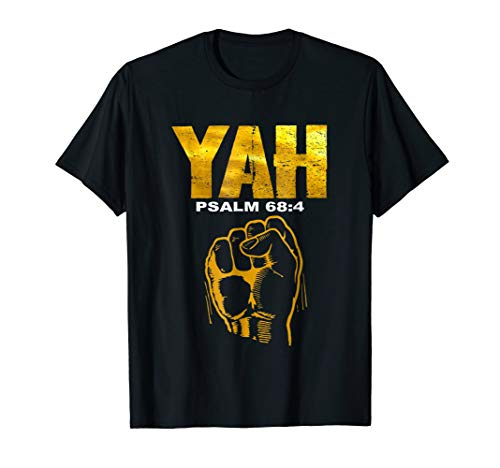 Hebrew Israelite T-shirt Gold Yah Clothing Tee Yahweh Gift
