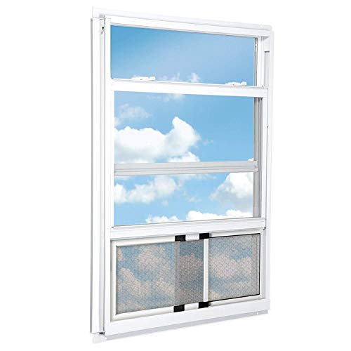 RESPILON Adjustable Window Screen - Protection Against Fine Dust, Diesel Fumes, Anti Allergy, Antismog, Antipollen & Bacteria Protective, 10'' High, 18''-33'' Wide by RESPILON Group