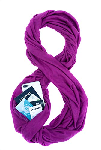 (TRAVEL SCARF by WAYPOINT GOODS // Infinity Scarf with Hidden Pocket (Orchid))