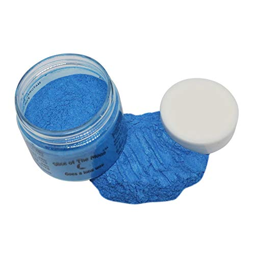 Slice of the Moon: Cobalt Blue Mica Powder 15g, Natural Mineral Mica, Cosmetic Grade For Lipstick Lip gloss Bath Bombs Epoxy Resin Face Blush Powder Eye pencil Dye Pigments Candle Making