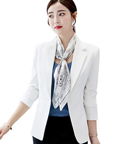 f739da8ac7ad Primavera Otoño Slim Blazer Kaiyei Oficina Mujer Dama Escudo Blanco Chaquetas  Blazers Office Traje Y Trabajo wOZklPXiTu